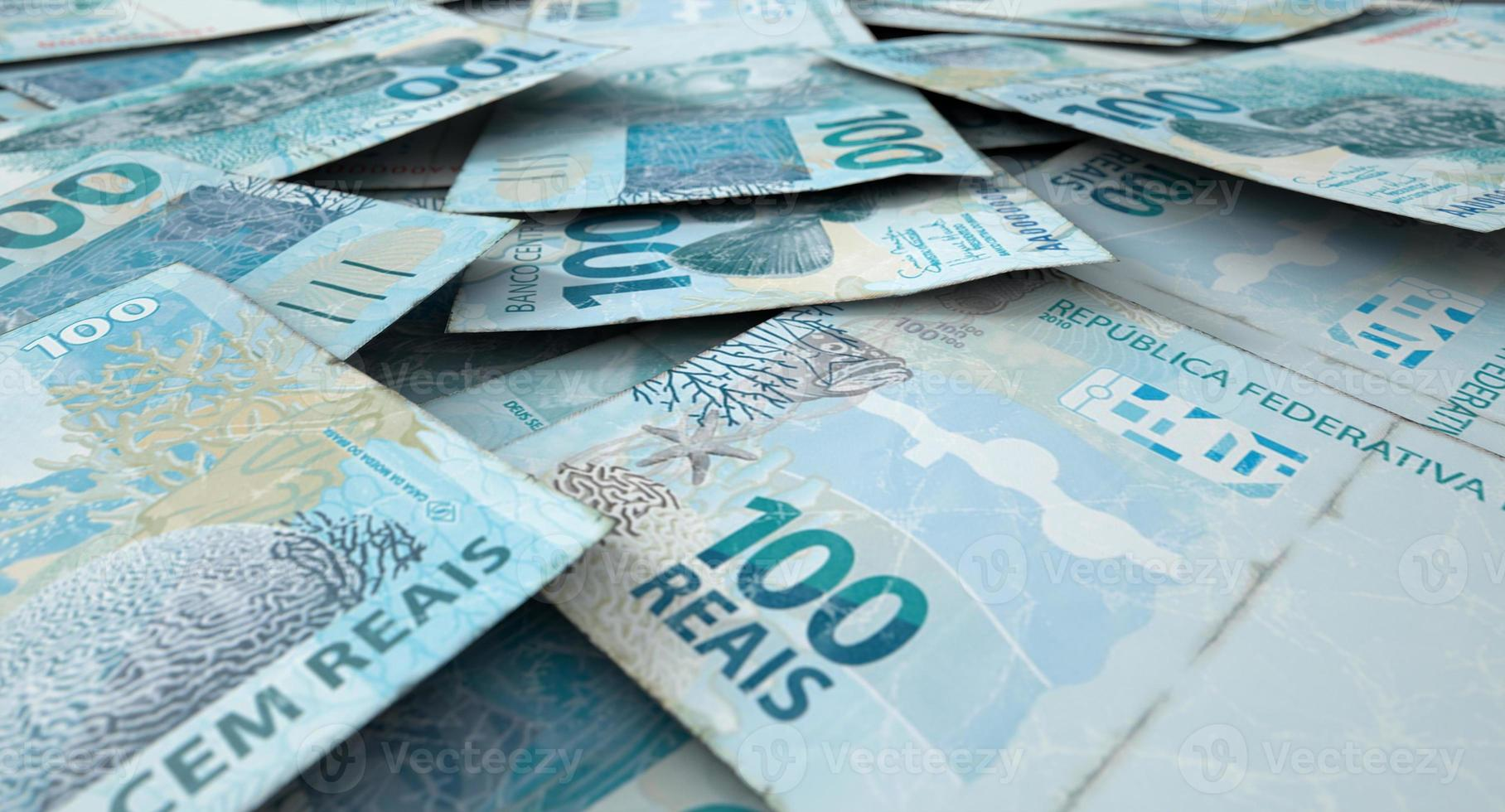 verstreuter Banknotenstapel foto