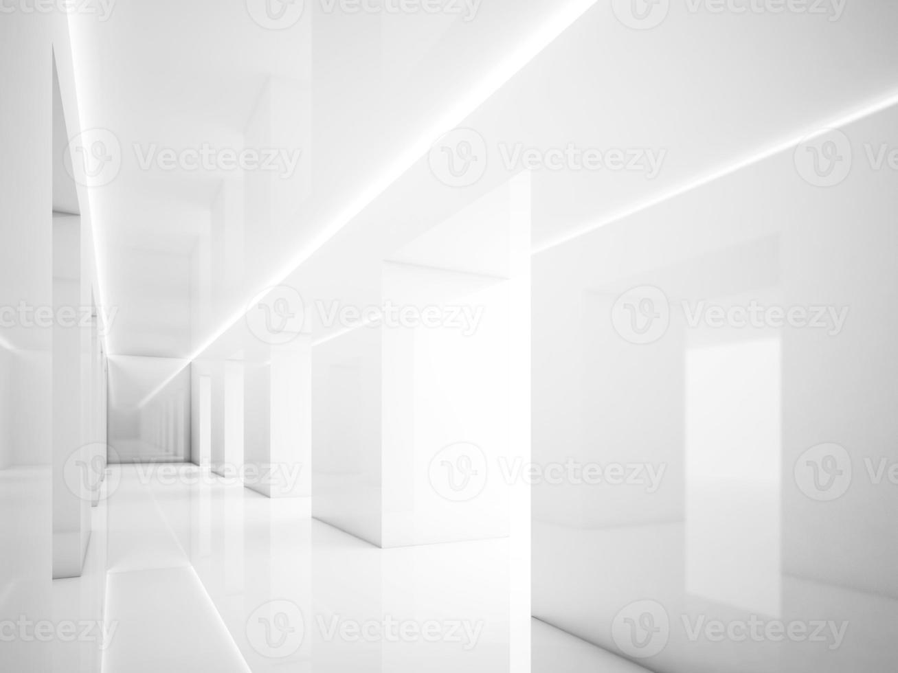 leerer weißer Innenraum foto