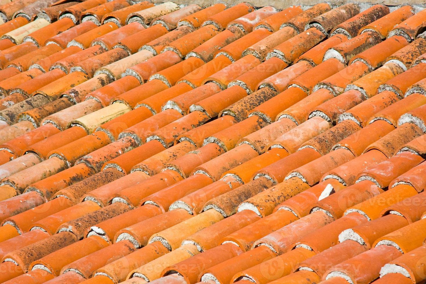 rote Dachziegel, Nahaufnahme foto