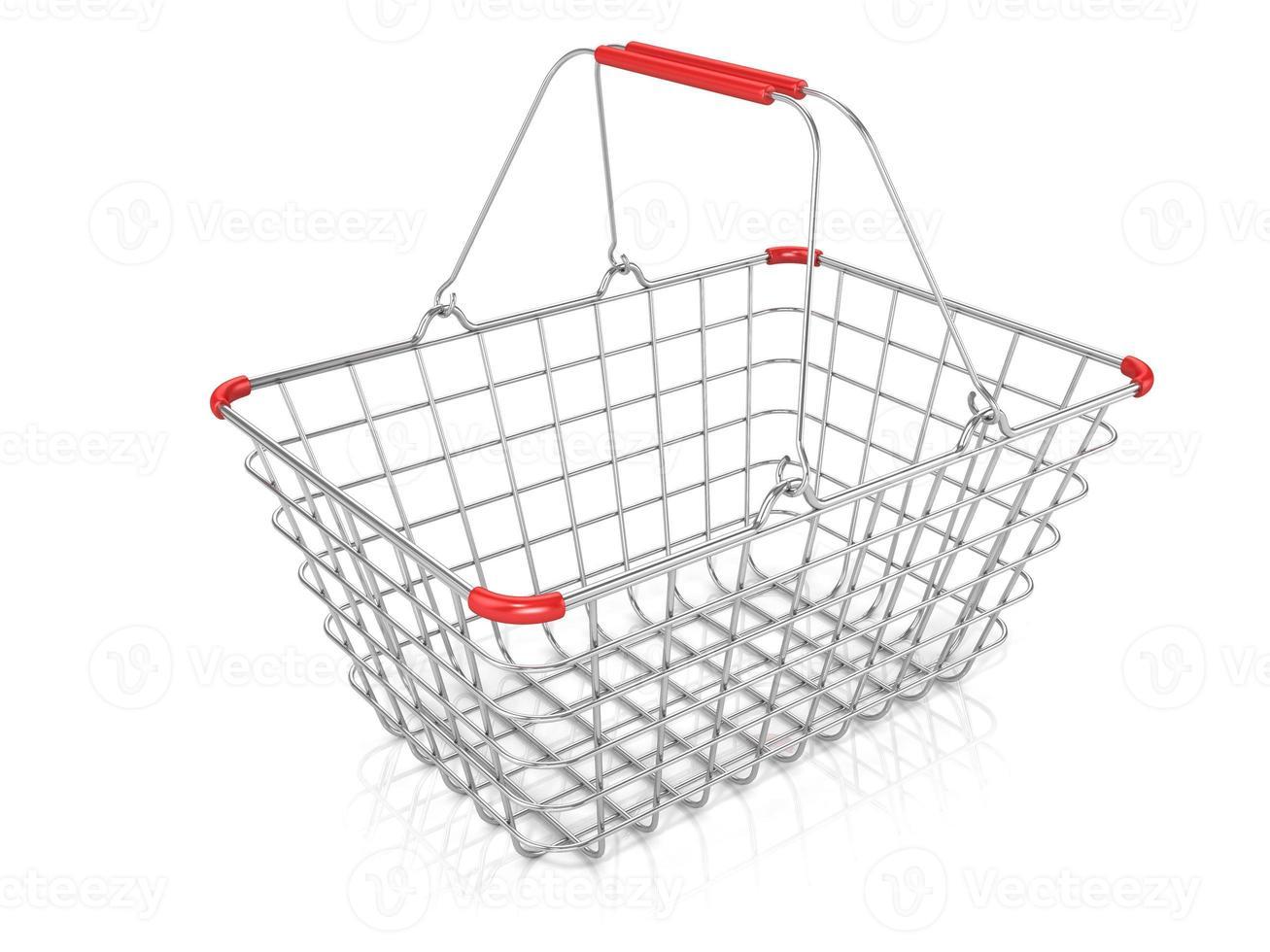 Einkaufskorb aus Stahldraht foto