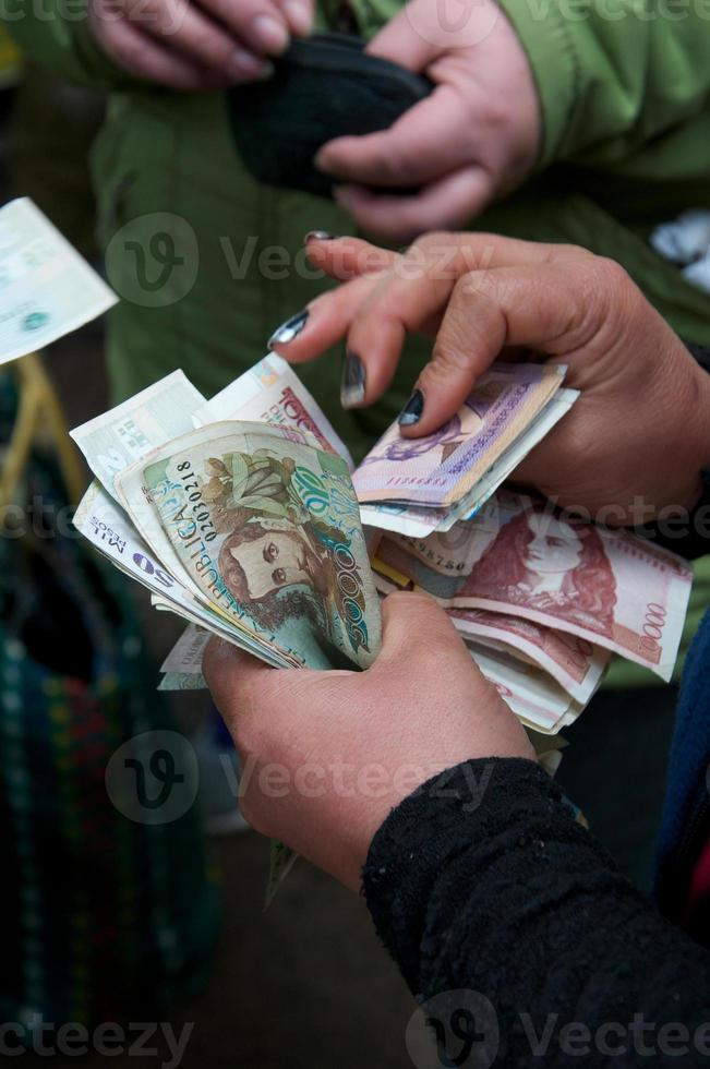 kolumbianische Pesos foto