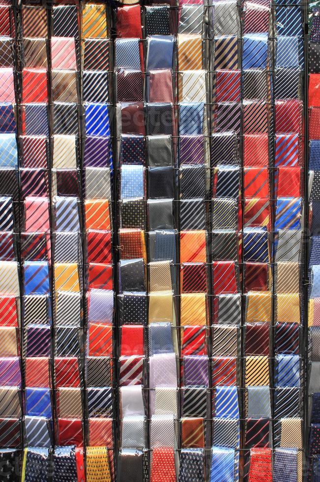 bunte Krawatten foto