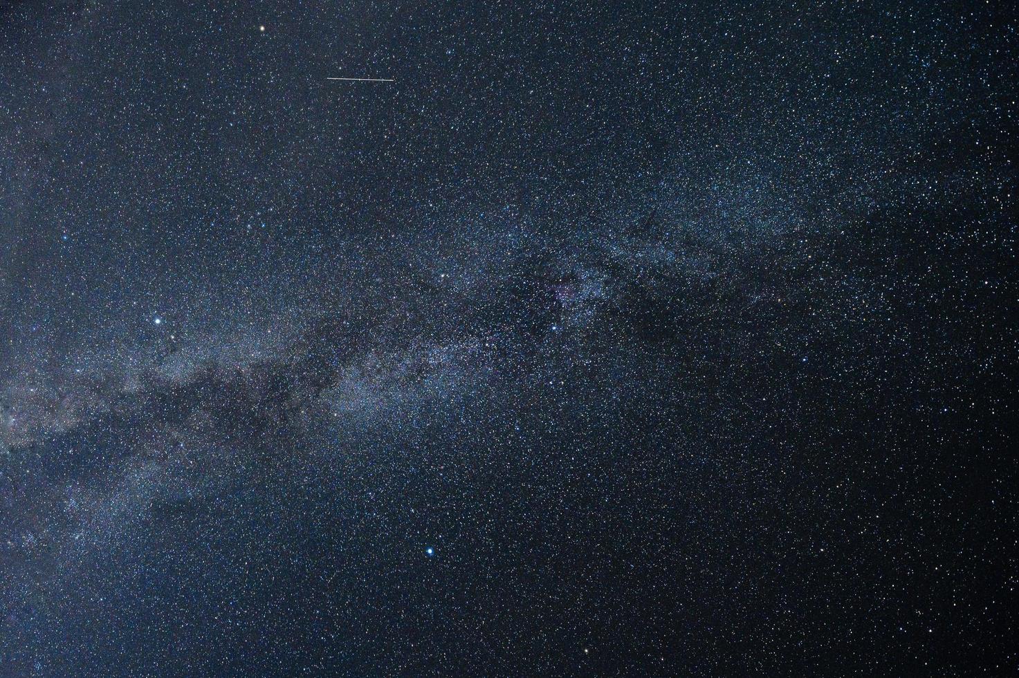 Nachtszene der Milchstraße foto