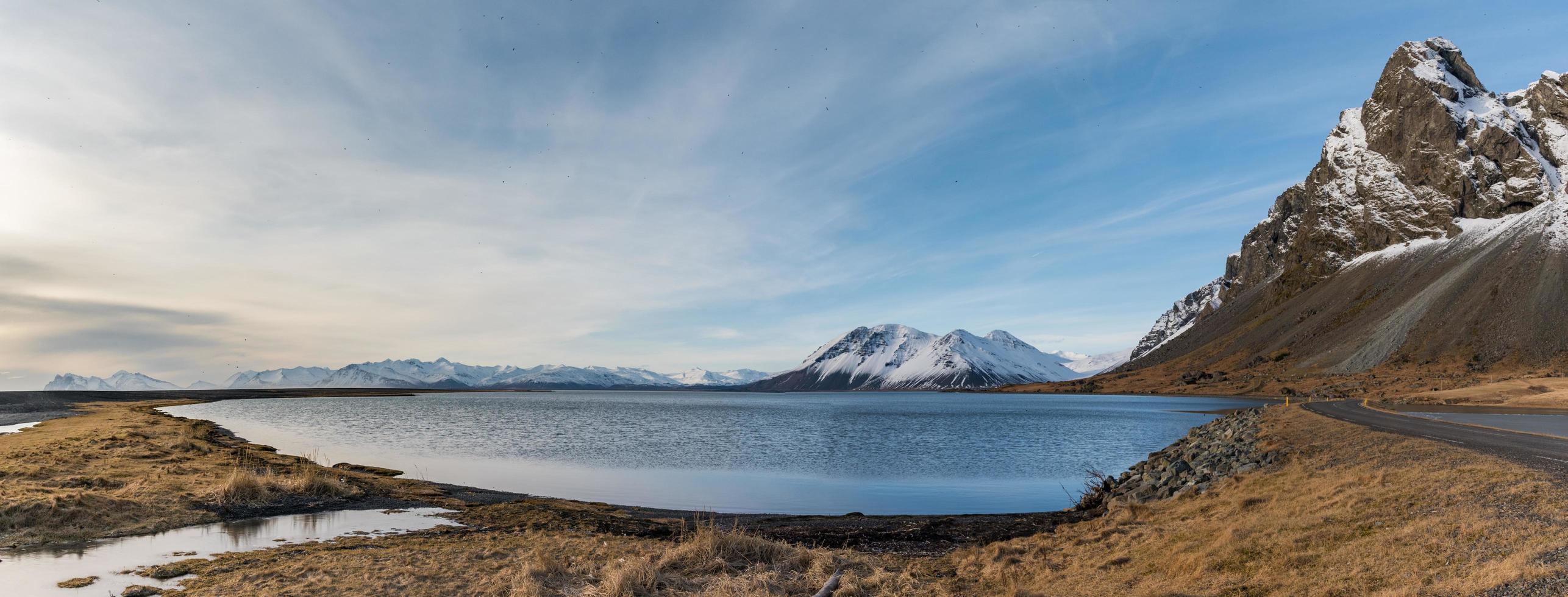 Island Landschaftsansicht der Insel Djupivogur foto