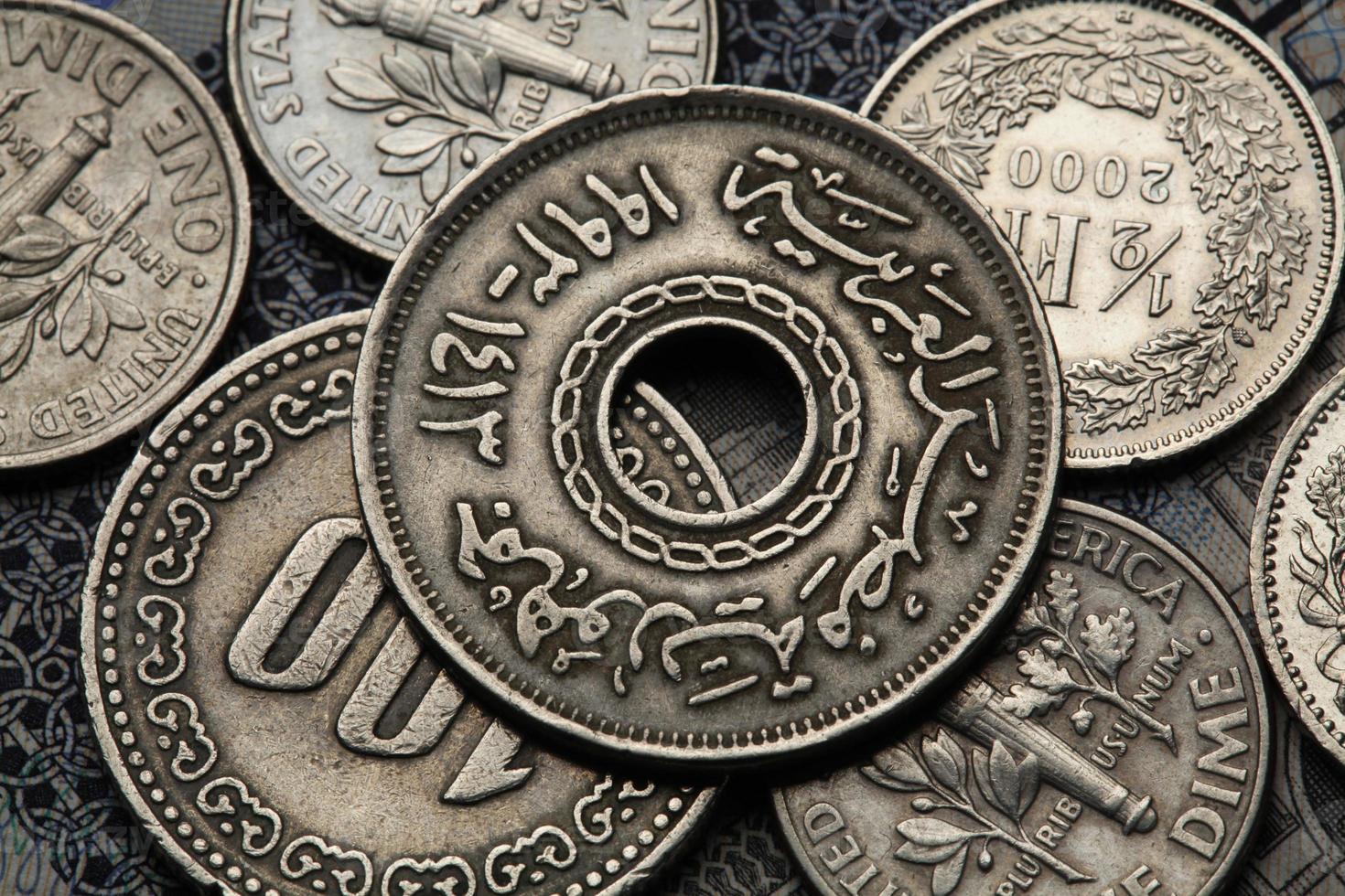 Münzen aus Ägypten foto