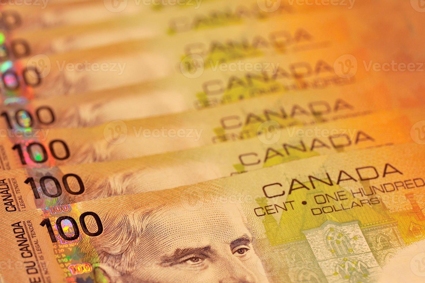 kanadische 100-Dollar-Scheine foto