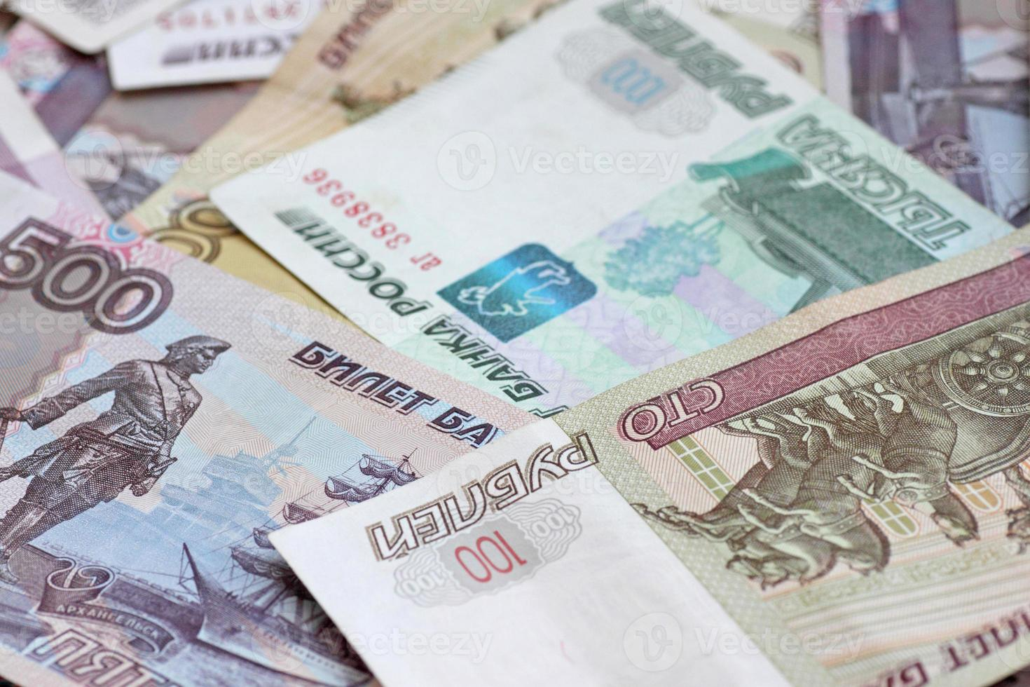 Banknoten der Russischen Föderation foto