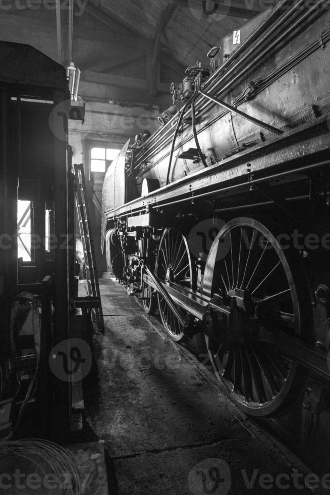 Eisenbahnräder Wagen. am Steuer foto
