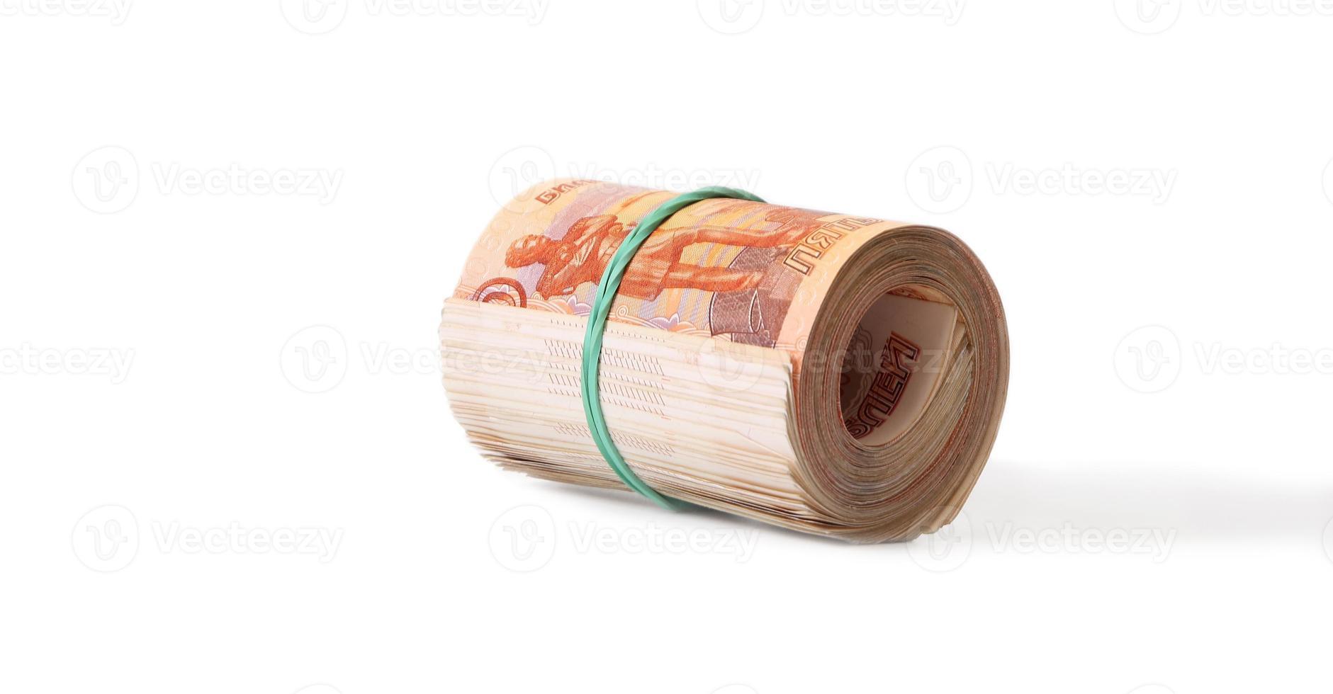 Nahaufnahme der russischen Banknoten. fünftausend Rubelnoten foto