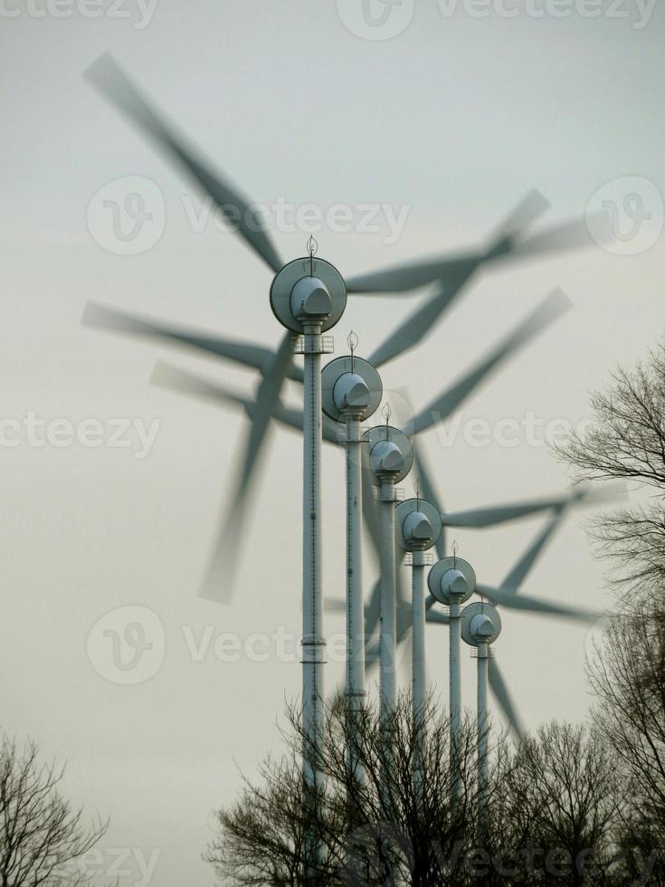 Windmühlen in Aktion foto