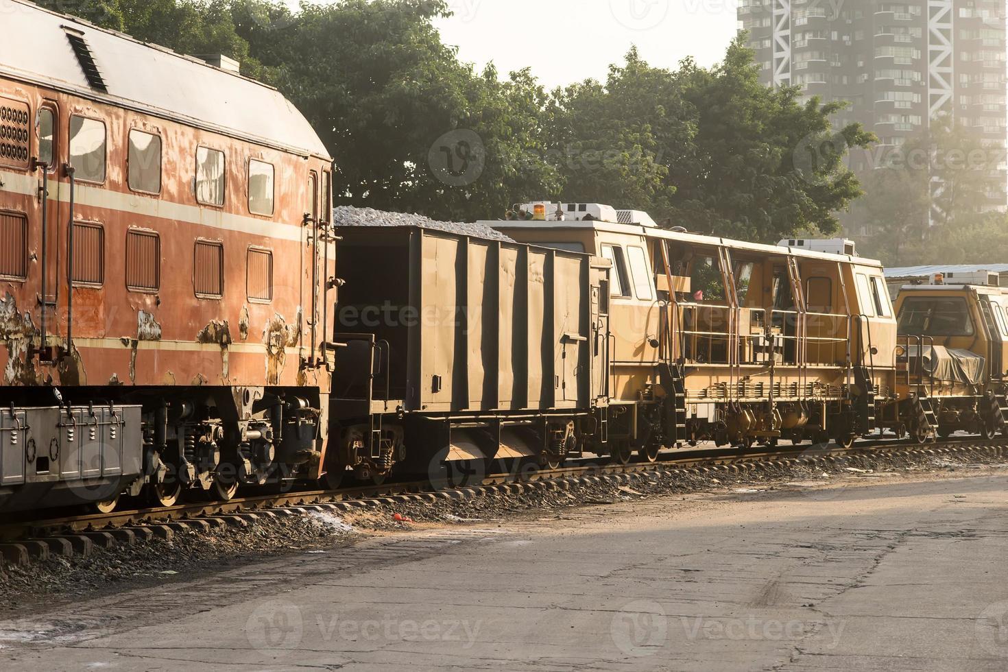 Eisenbahnwaggons foto