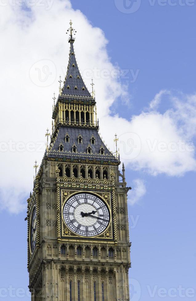 Big Ben und die Häuser des Parlaments in London foto