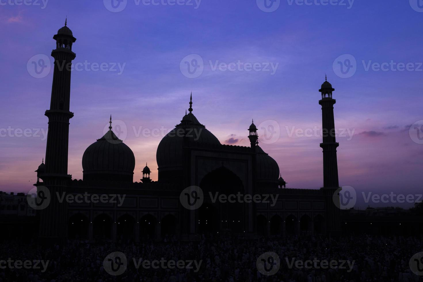 jama masjid, altes delhi, indien foto