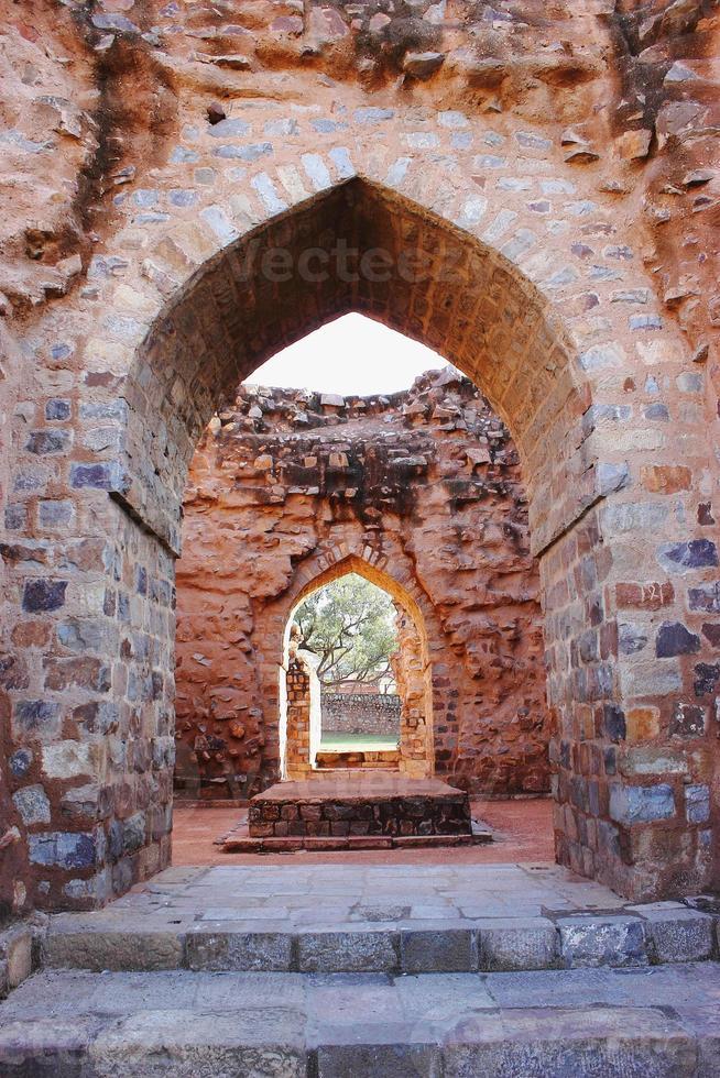 Ruinen bei Qutub Minar foto