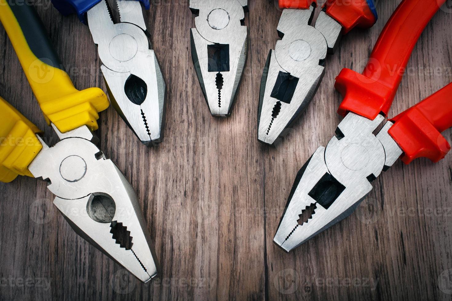 Copyspace-Bildsatz einer Handwerkzeugzange foto