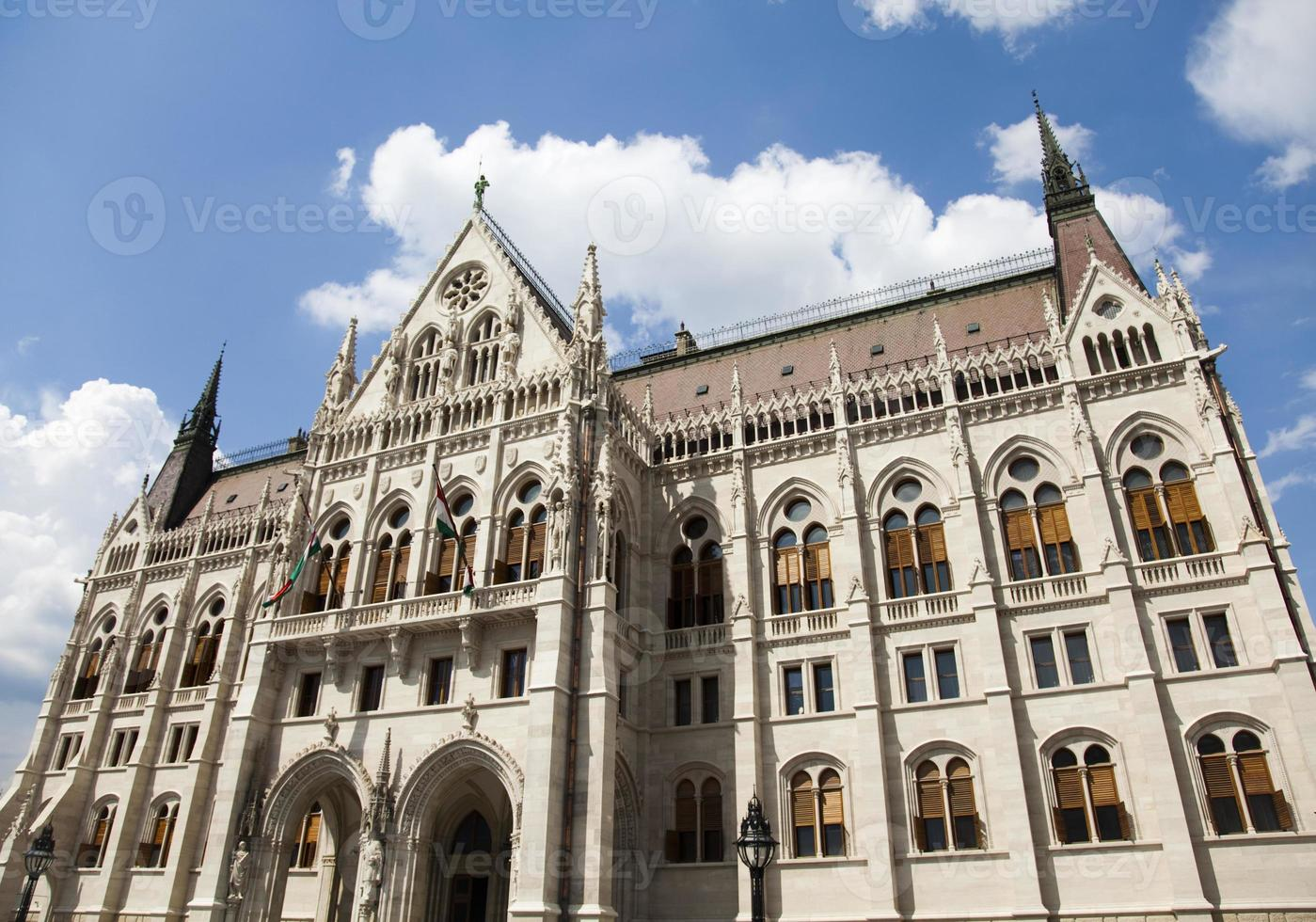 Parlamentsgebäude in Budapest foto