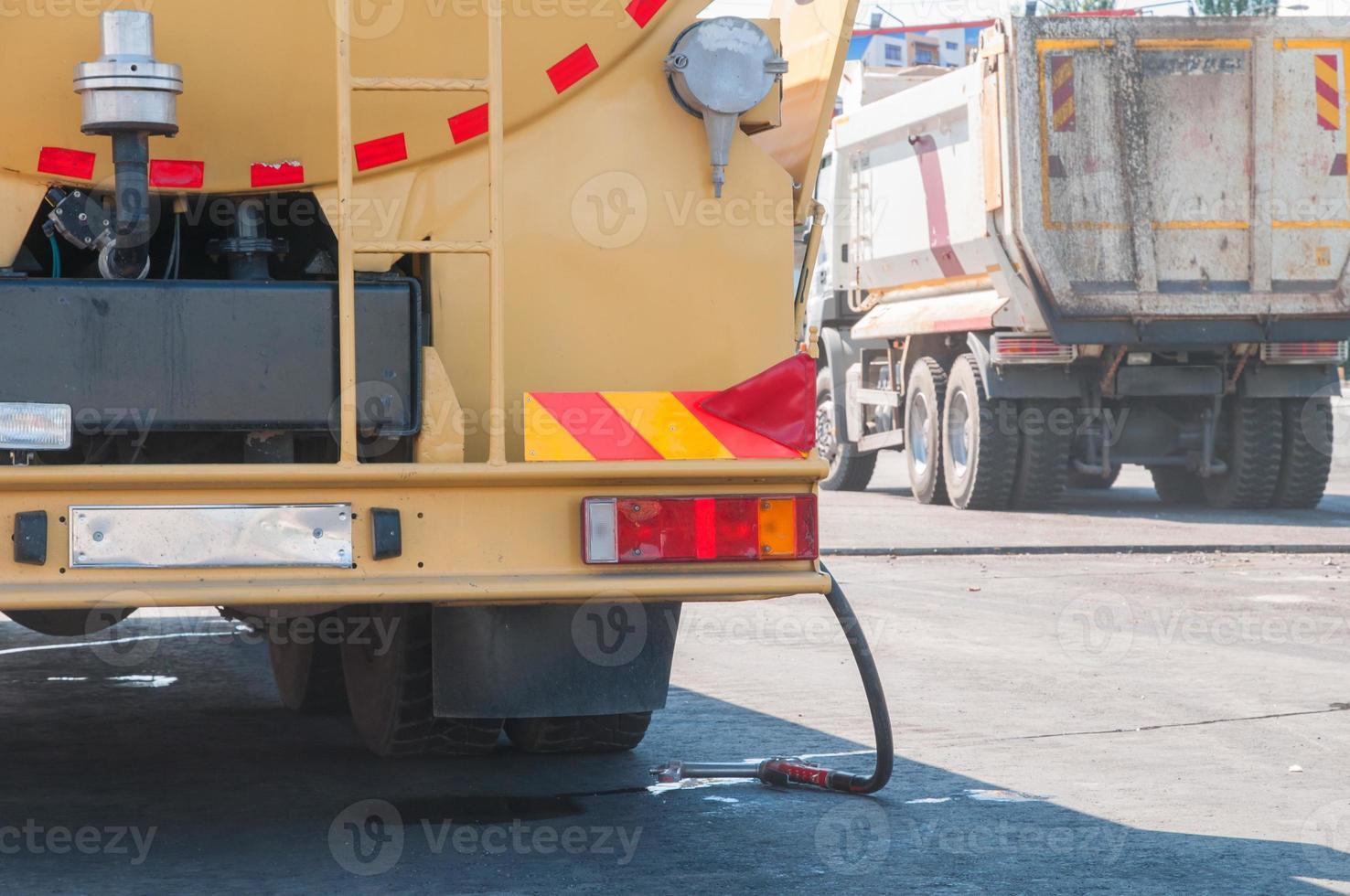 Straßenbauarbeiten foto