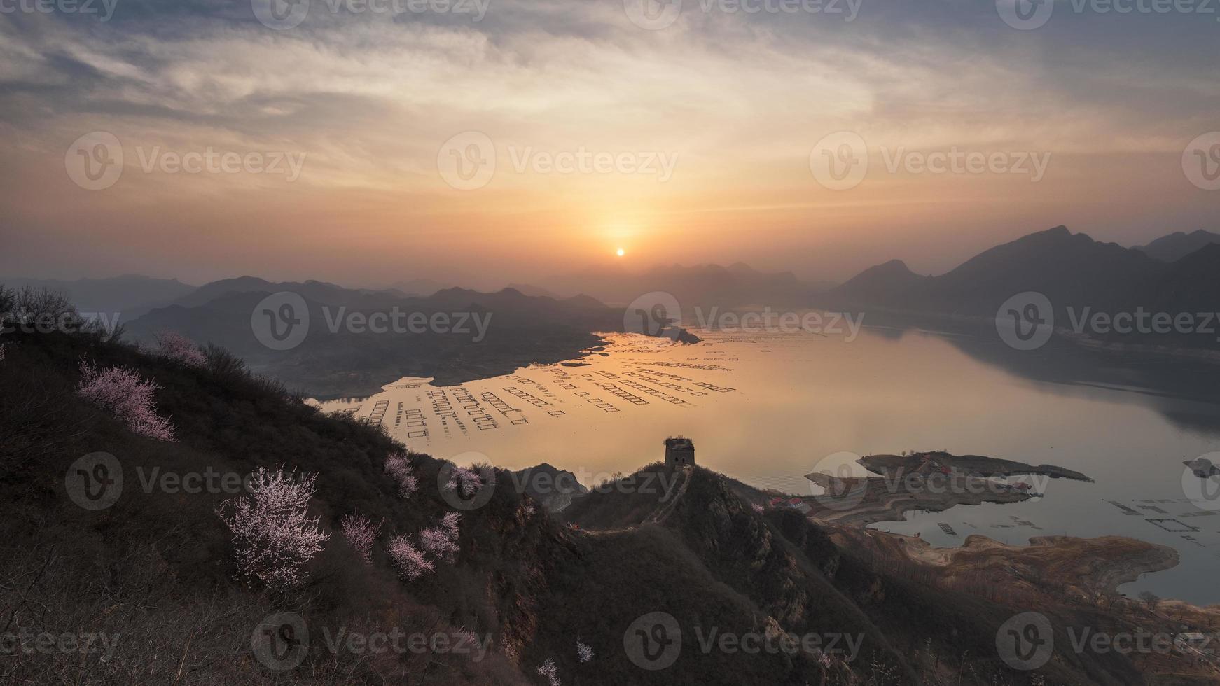 Wand Sonnenaufgang Xifengkou foto