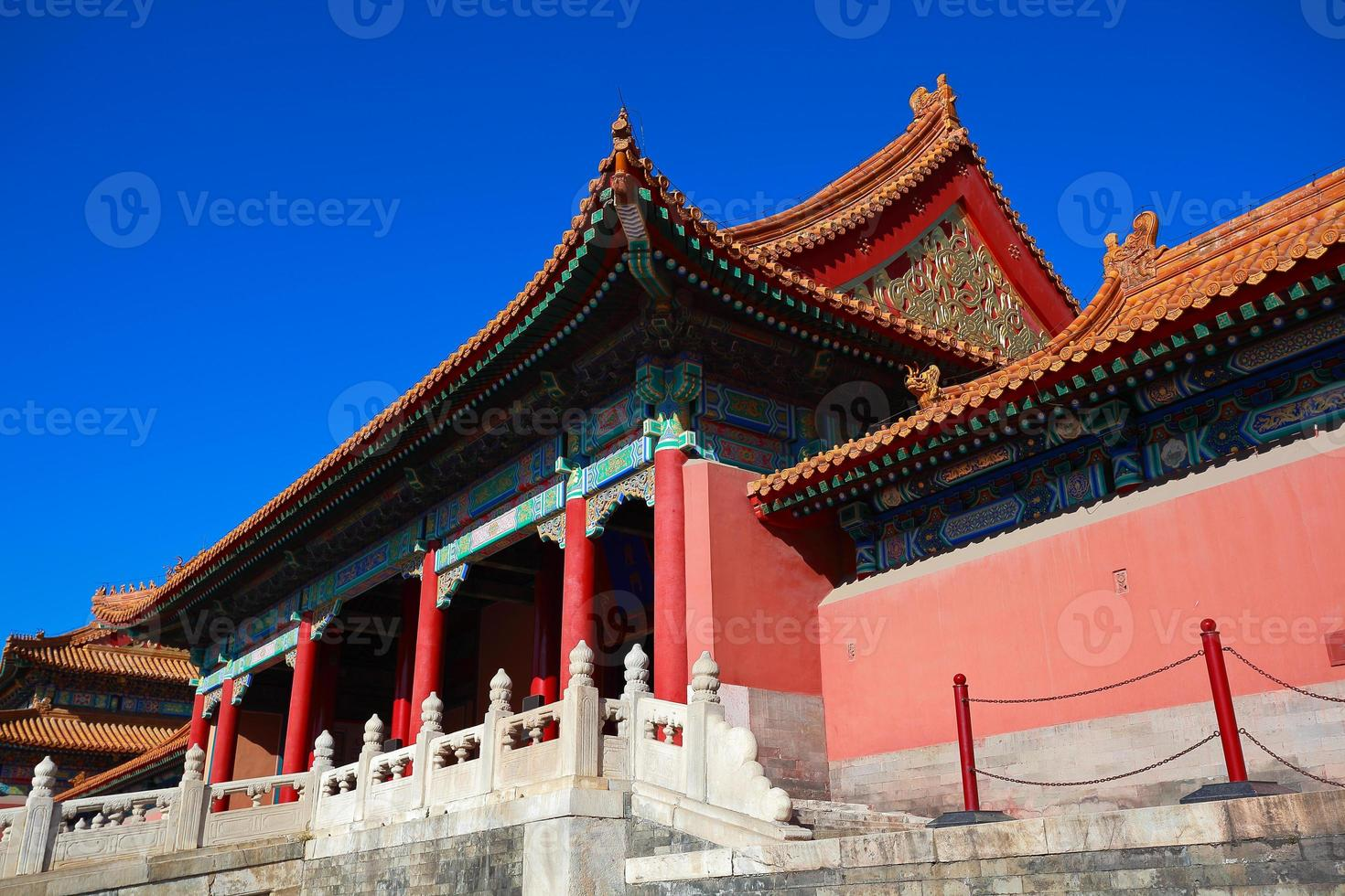 Verbotene Stadt in Peking China foto