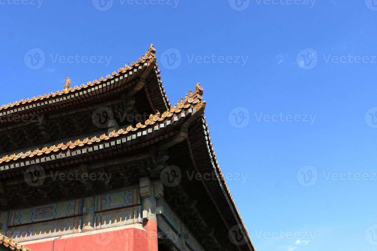 Traufe des Tempels foto