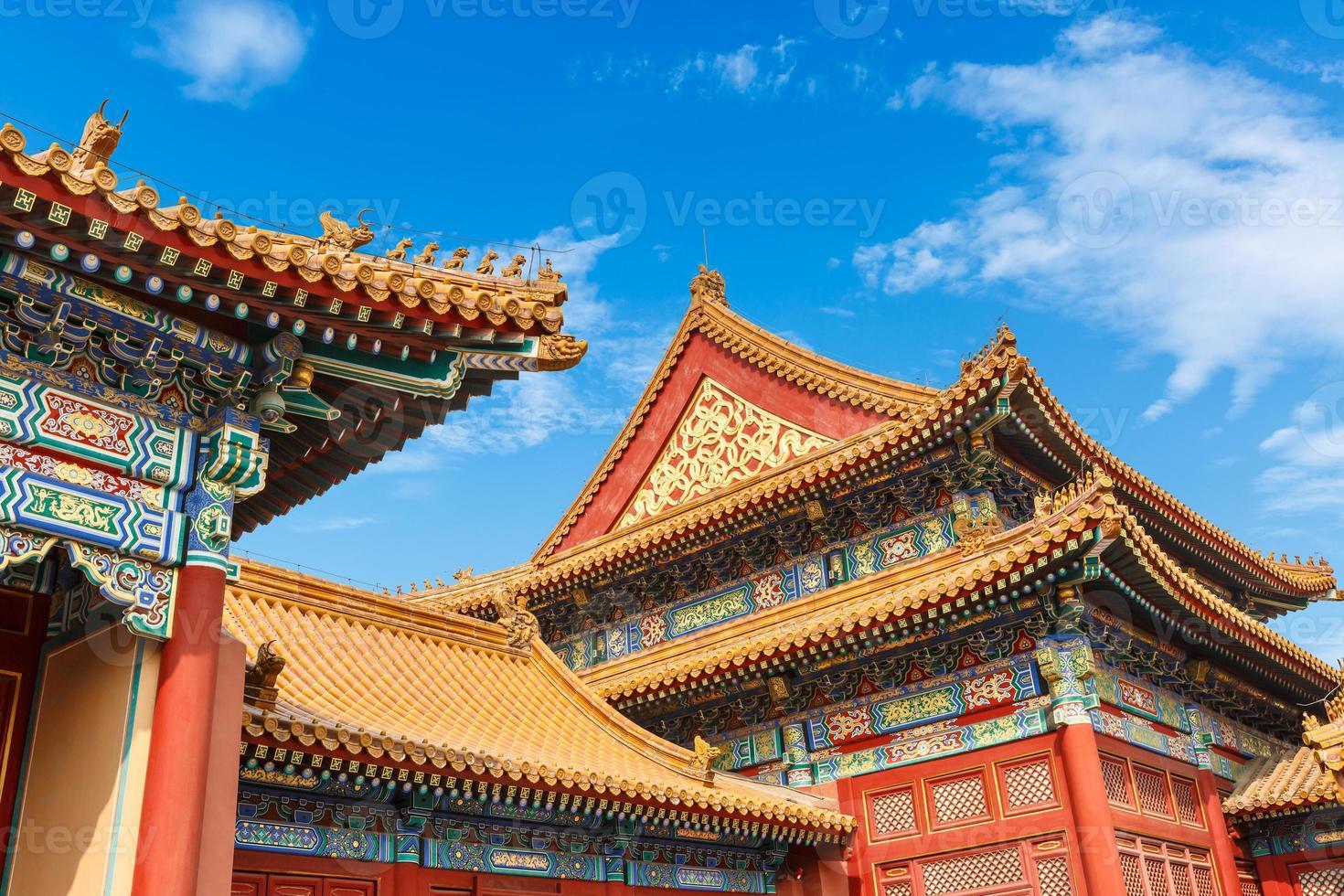 Verbotene Stadt in Peking, China foto