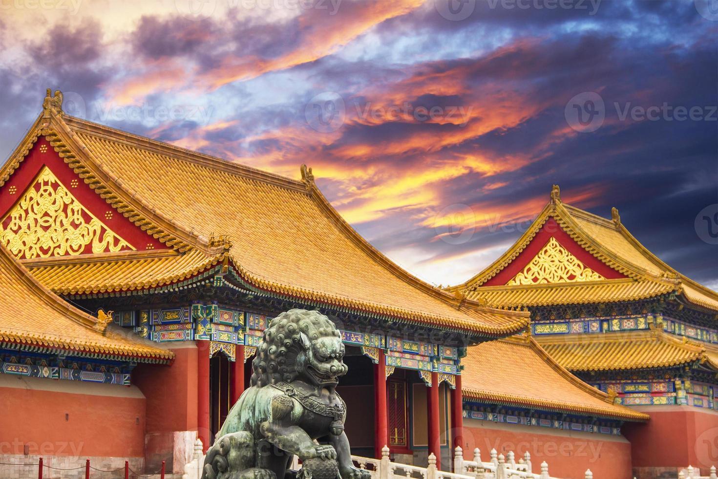 die verbotene Stadt Peking, China foto