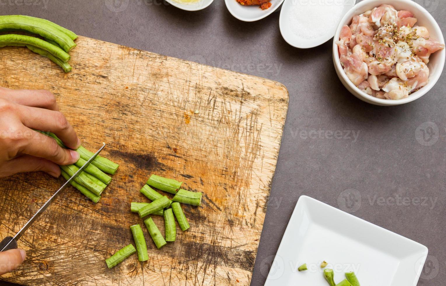 grüne Kuherbse zum Kochen und für die Gesundheit. foto