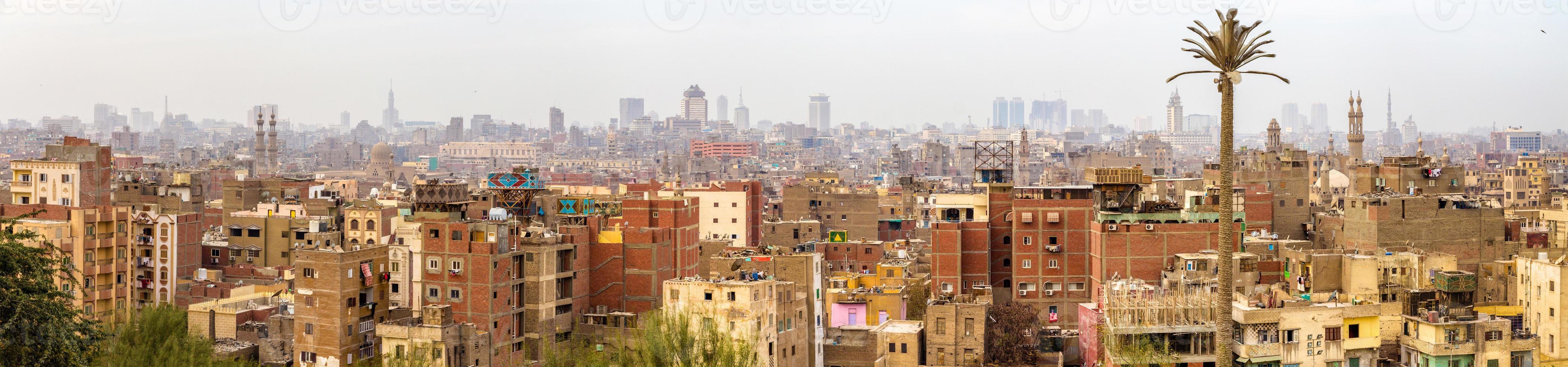 Panorama des islamischen Kairo - Ägypten foto