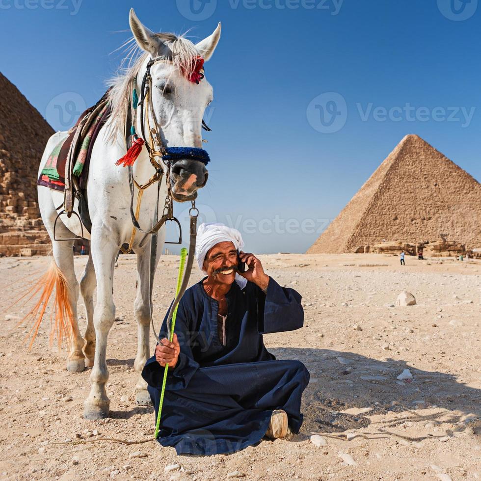 Beduinen telefonieren foto