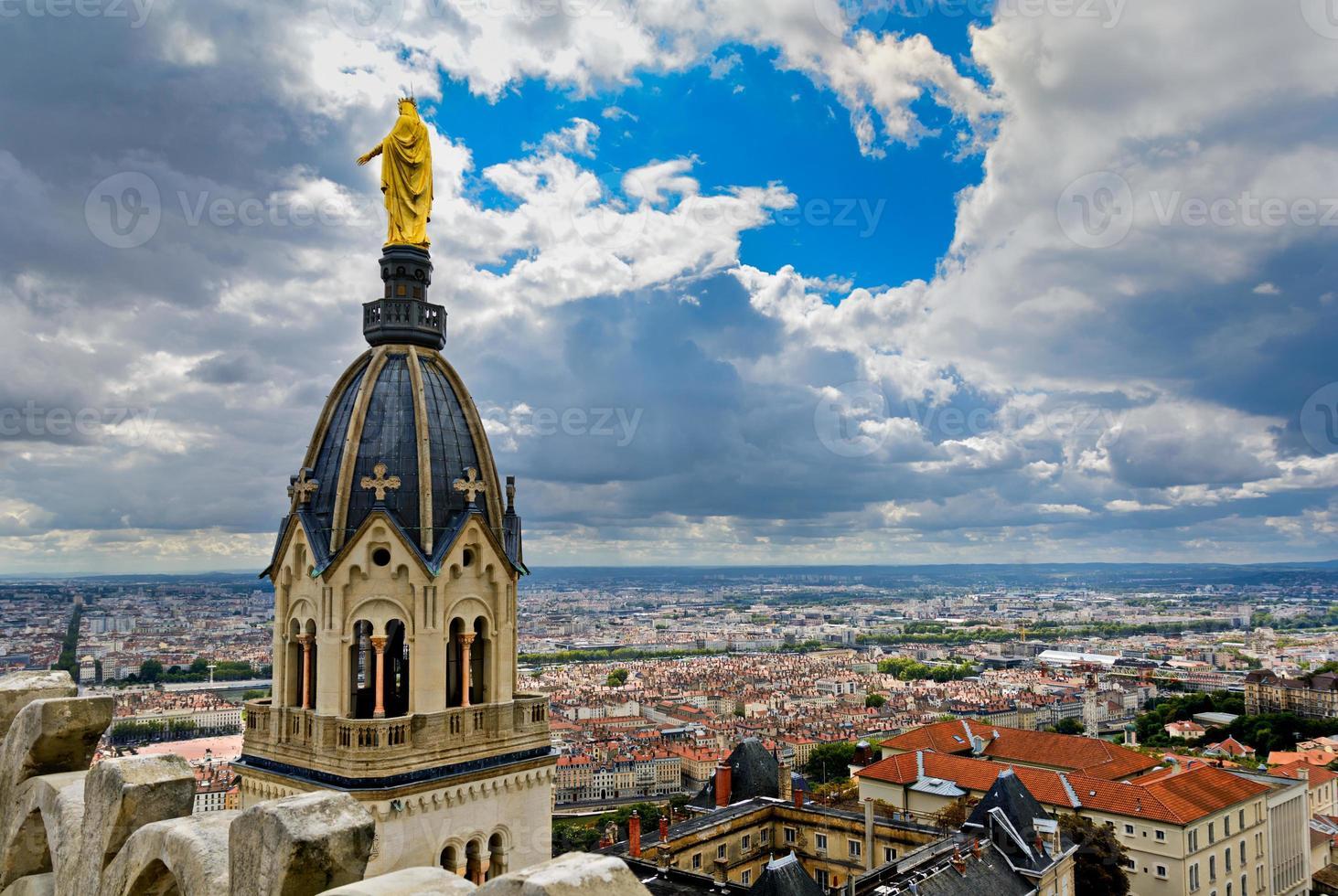 Blick auf Lyon Stadt, Lyon, Frankreich foto