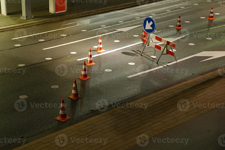 Straßenbaustelle foto