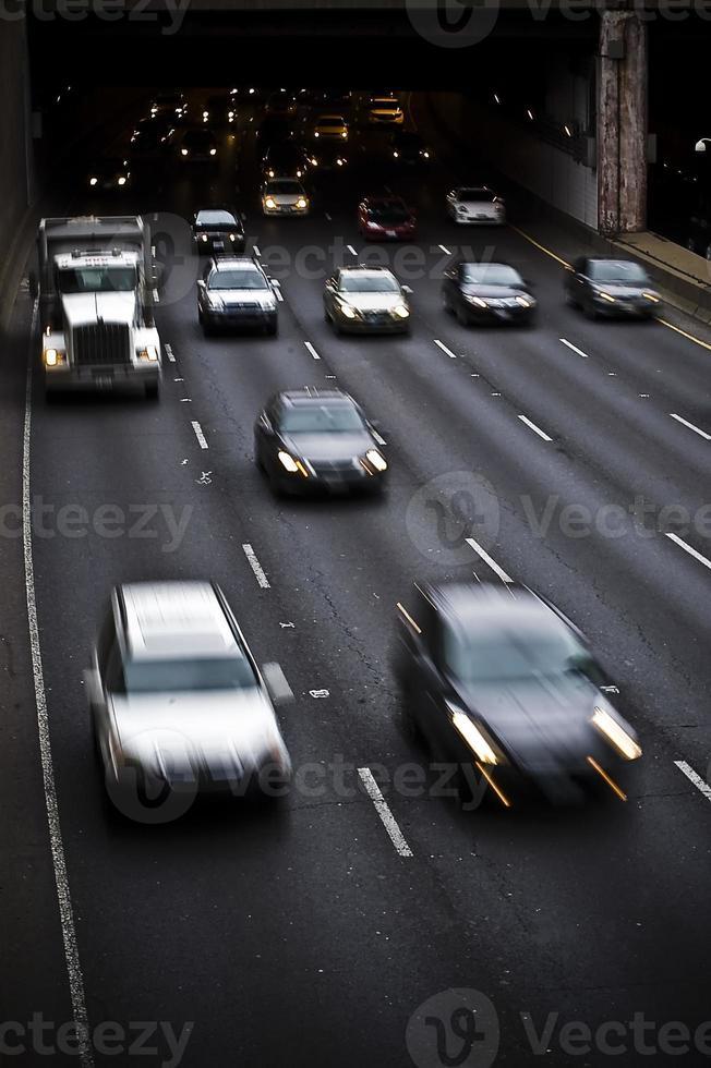 Verkehrsbewegung, Autobahn foto