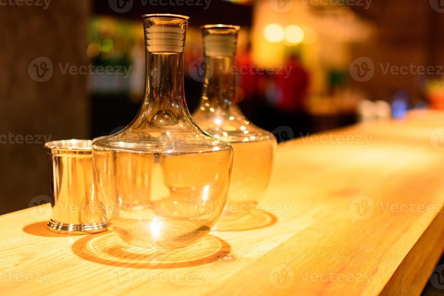Barcounter, Restaurant, komfortabel, farbenfroh, ruhig, warm, Hintergrund foto