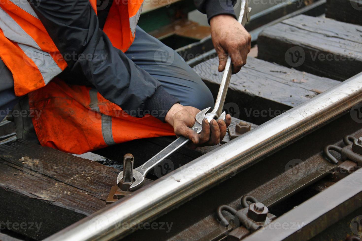 Wartung der Eisenbahn foto