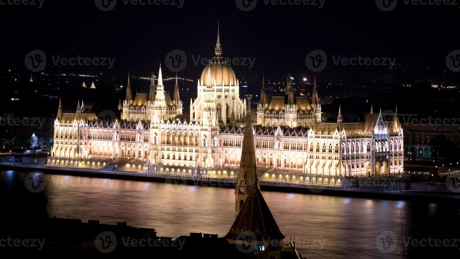 das parlament von budapest foto