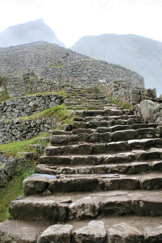 Machu Picchu Mauerwerk foto