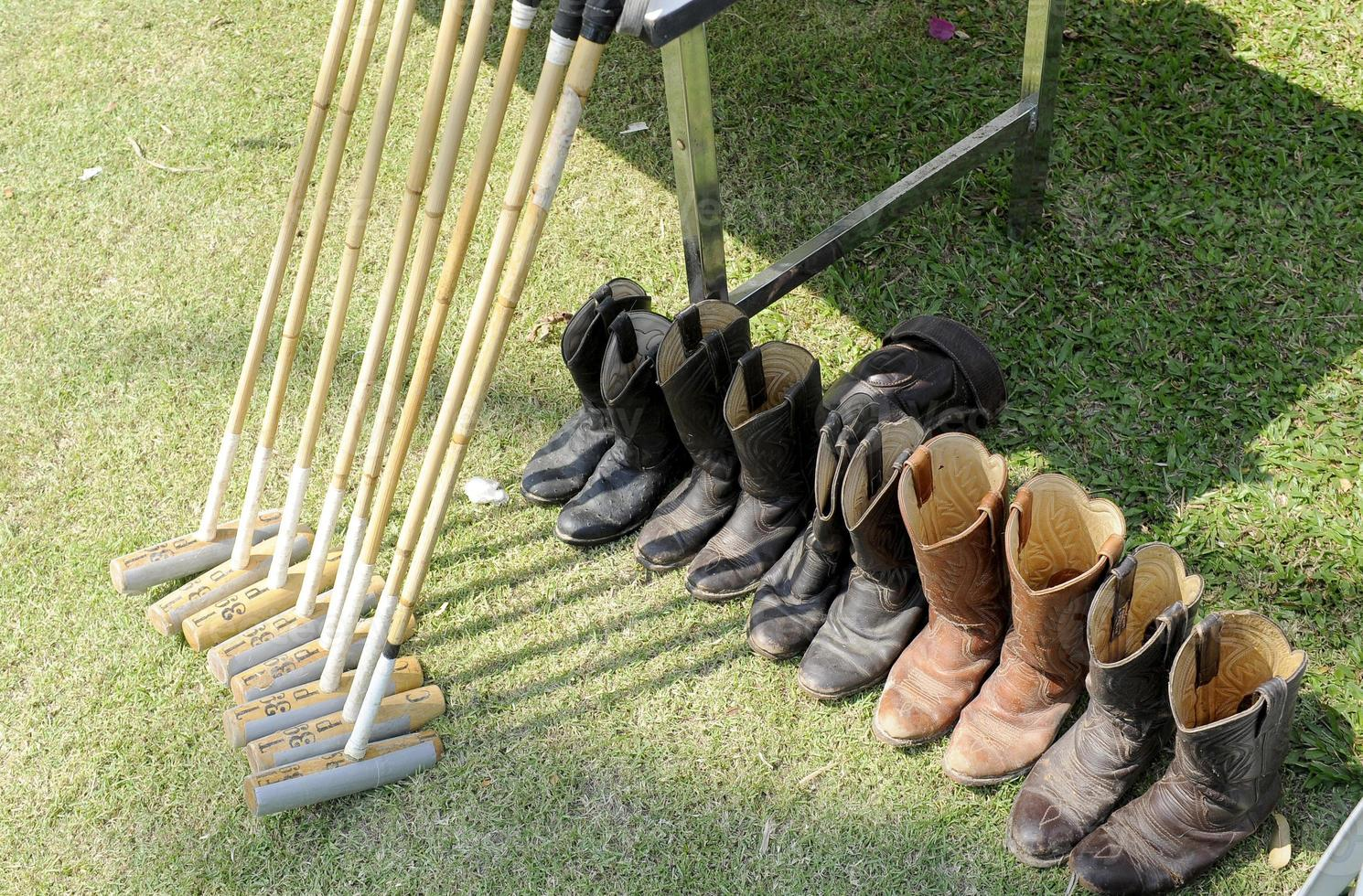 Schlägel und Schuhe foto