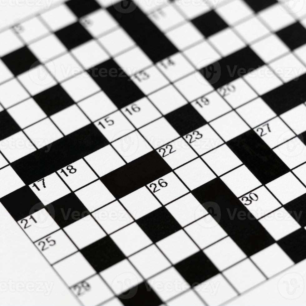 leeres Scanword-Puzzle foto