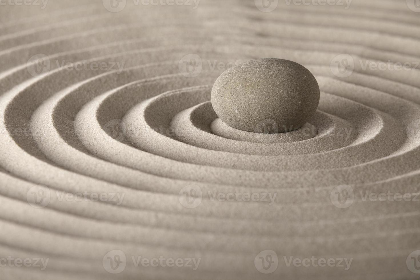 Zen Meditationsstein foto