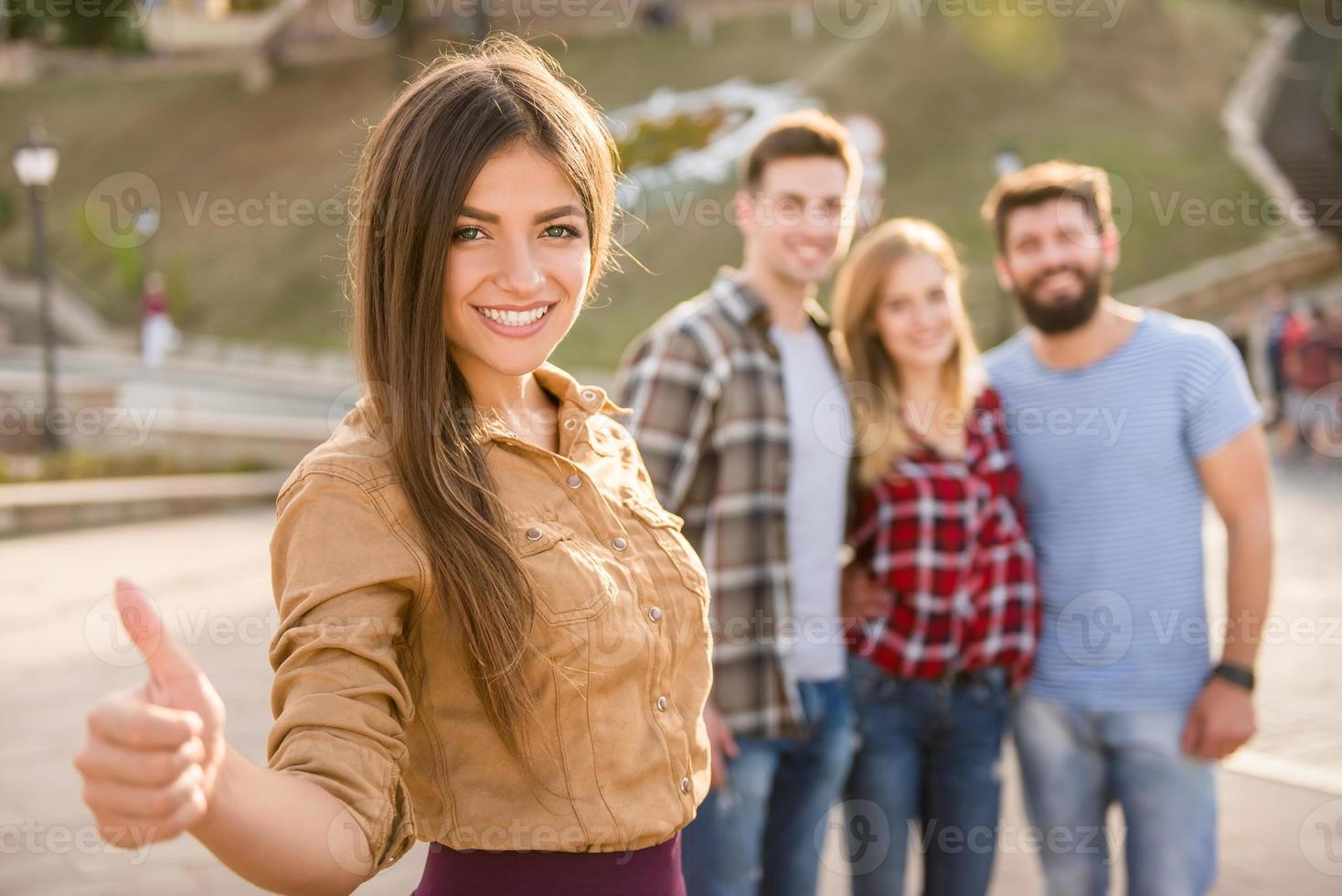 Freunde im Freien foto