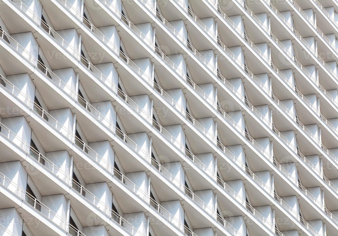 Detail der Fenster im Hochhaus foto