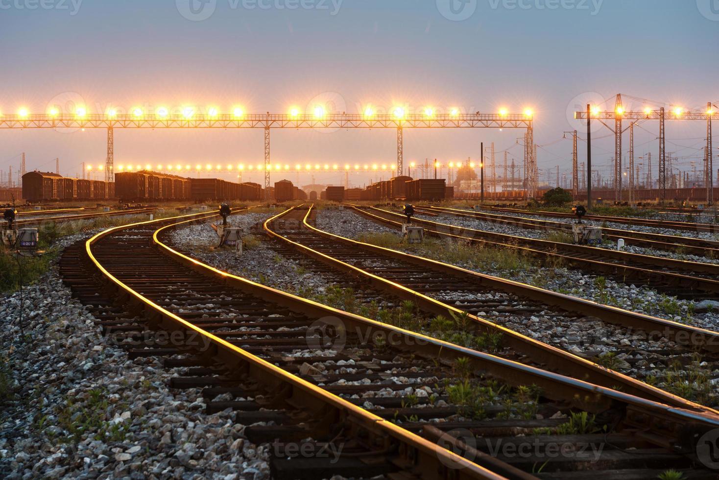 der Weg vorwärts Eisenbahn foto