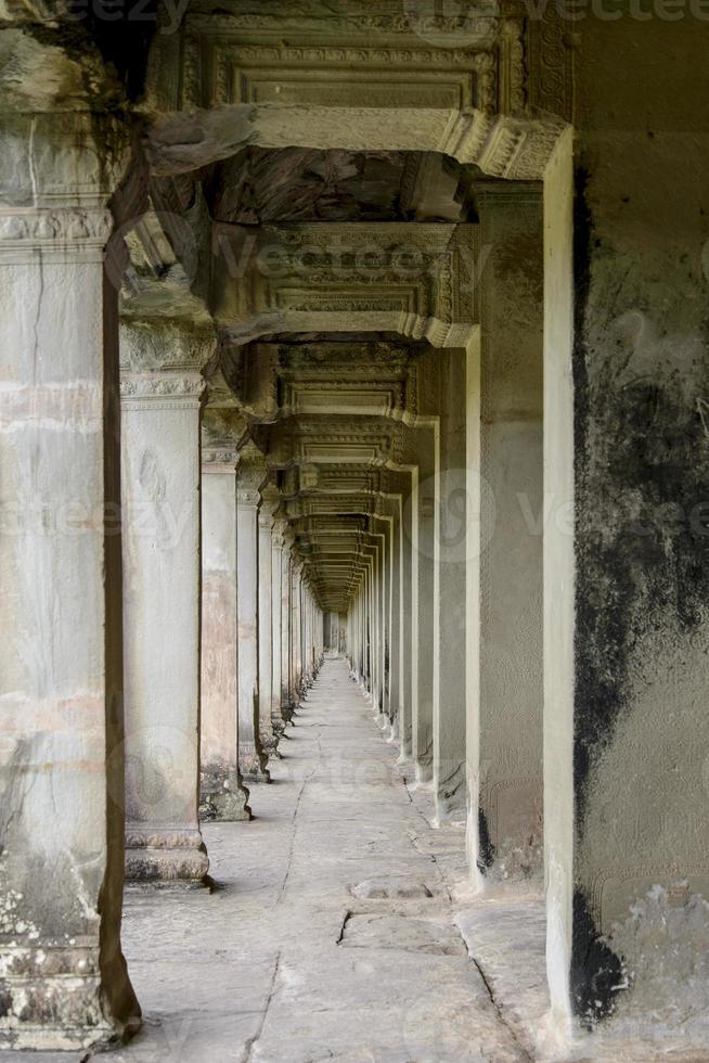 Korridor in Angkor Wat foto