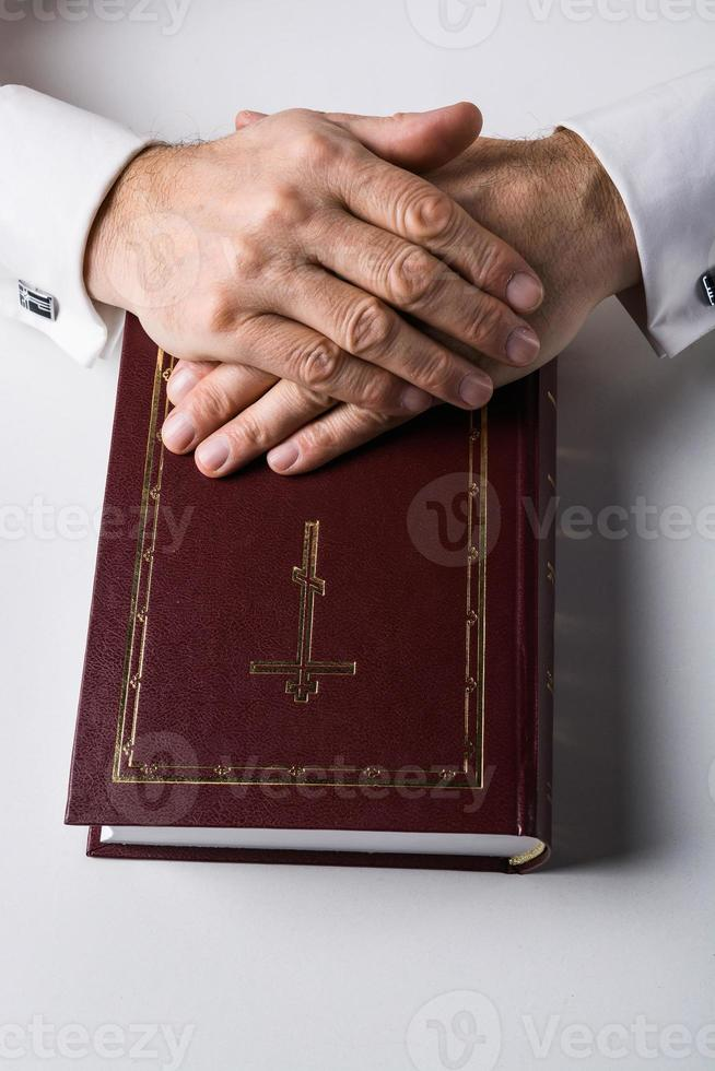 Konzept für Religion und Gebet foto