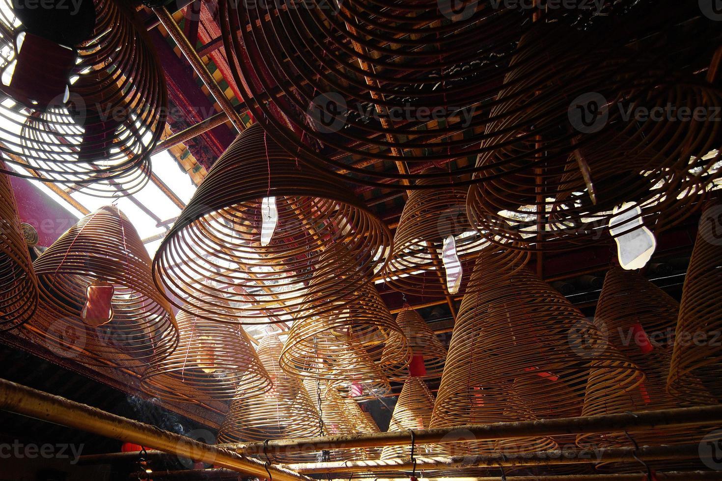 Weihrauch im chinesischen Tempel foto