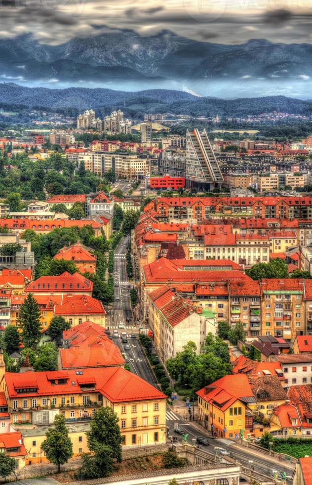 Blick auf Ljubljana von der Burg - Slowenien foto