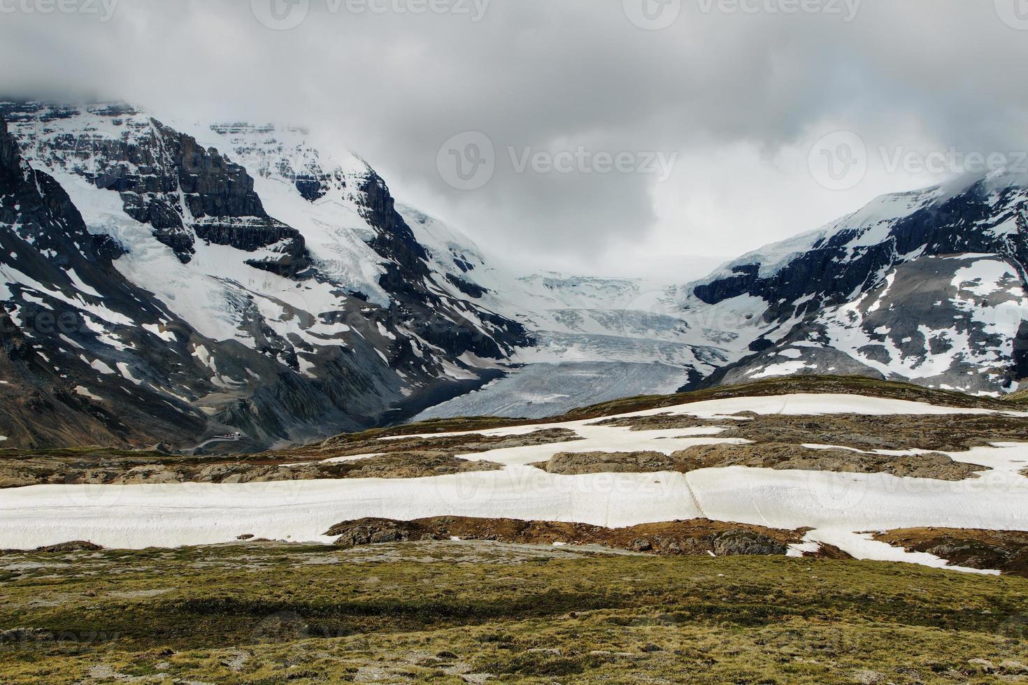 Athabasca-Gletscher vom Wilcox-Pass foto
