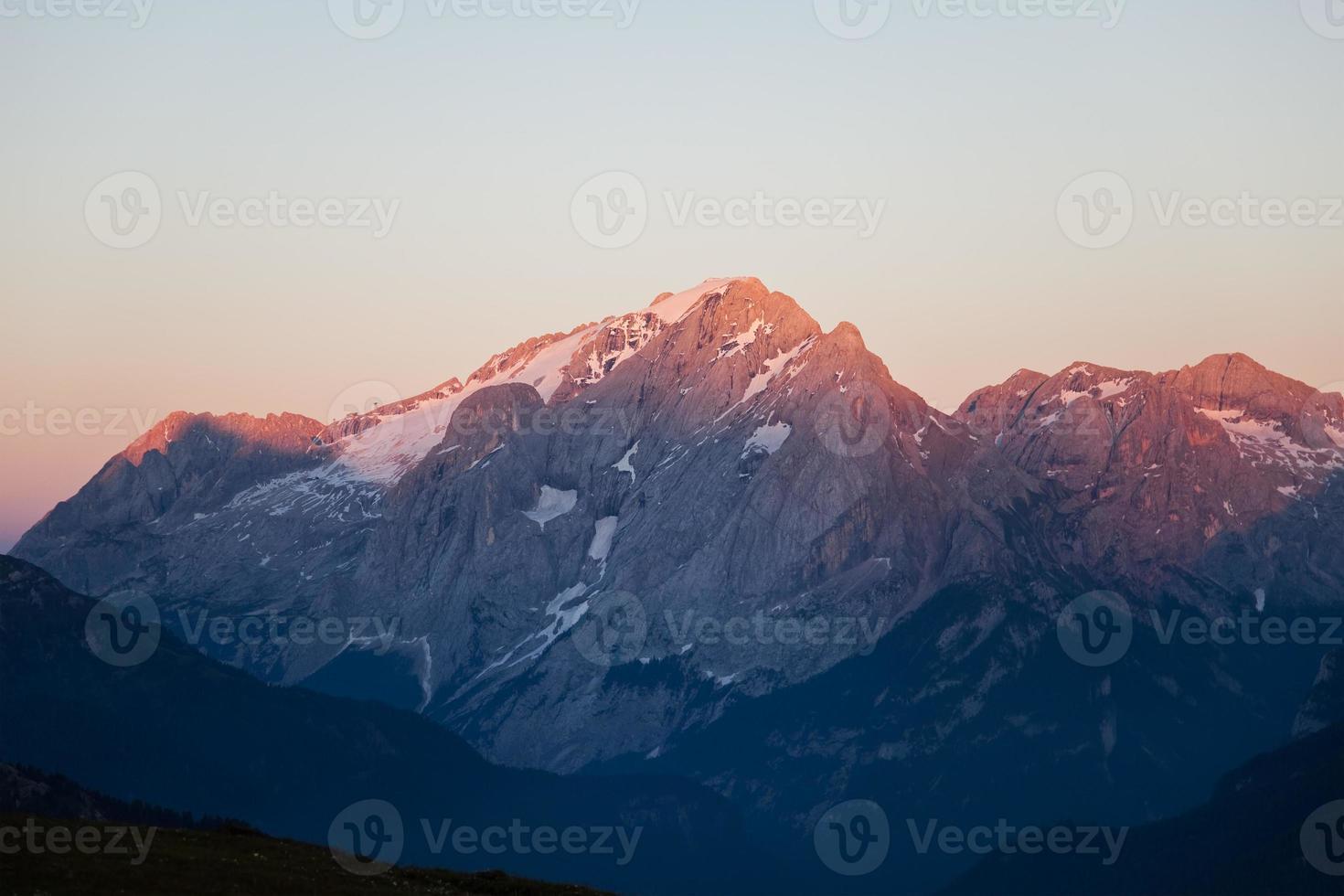 brennende Dolomiten foto