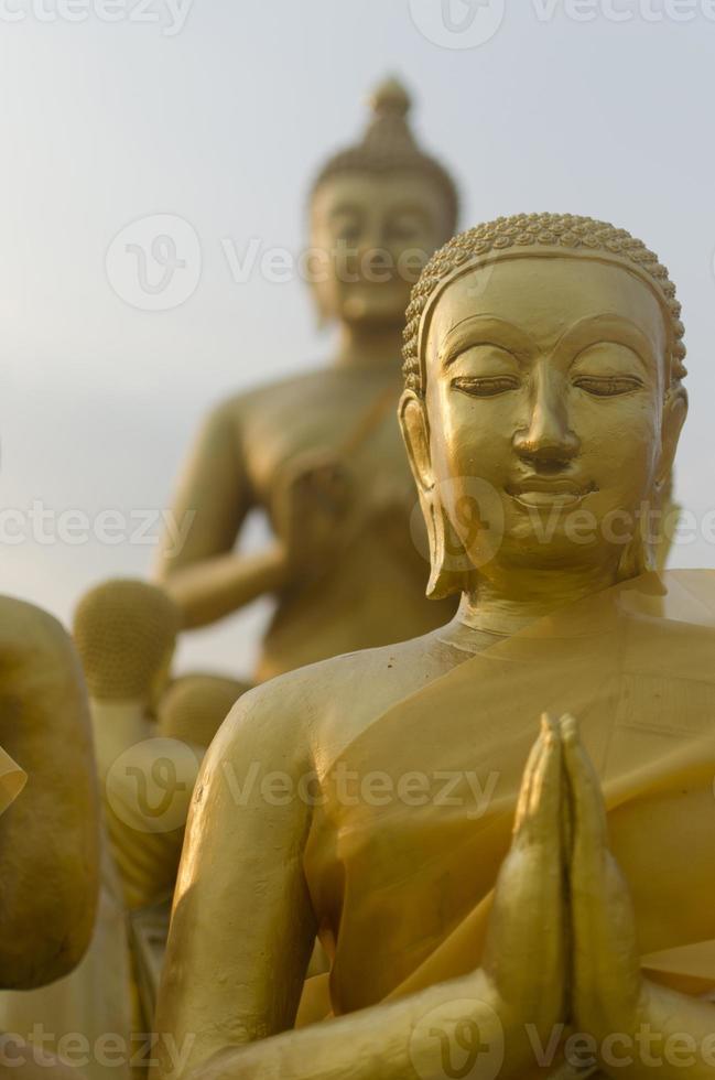 Buddha und Schüler foto