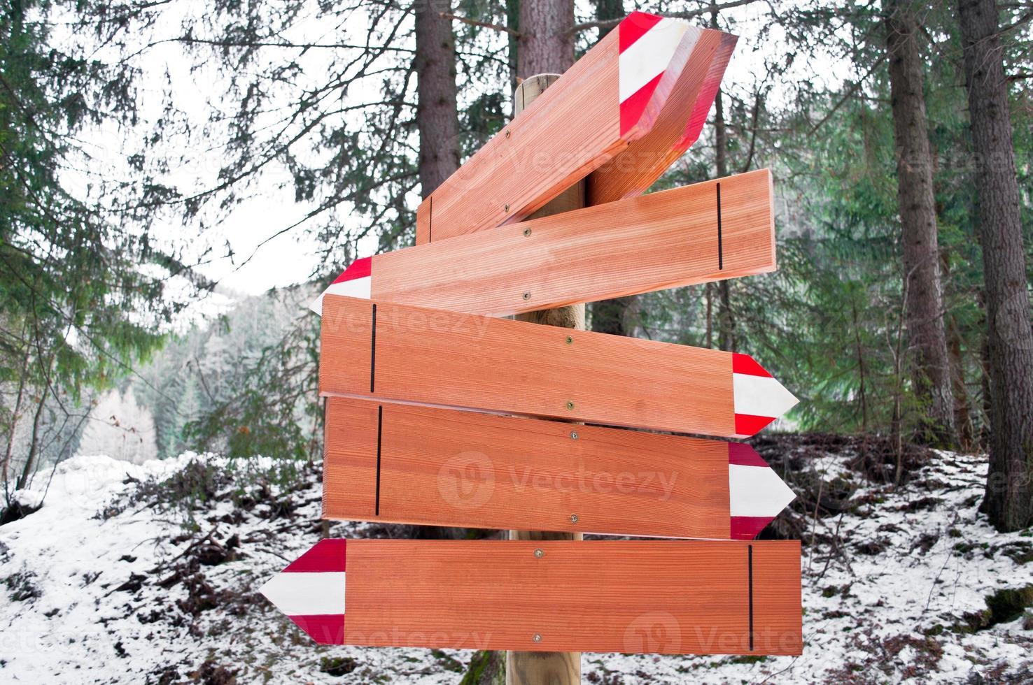 Pfeil Weg Holzspuren foto